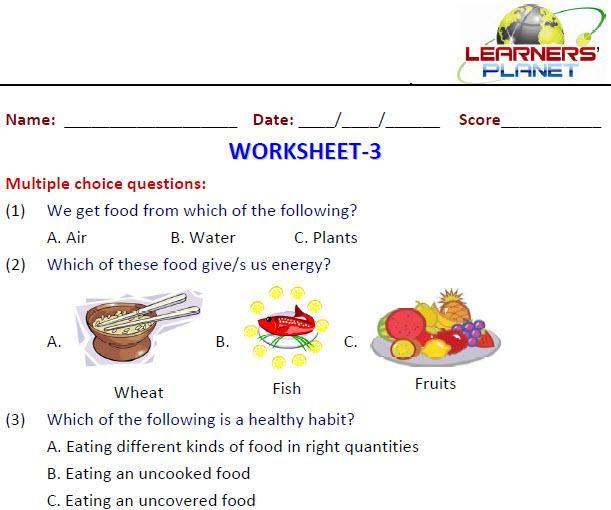 Image Result For Food We Eat Worksheets For Grade 1