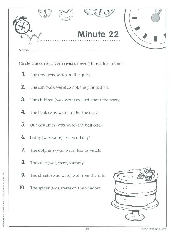 6th Grade Grammar Worksheets Worksheets Multiplication Worksheets