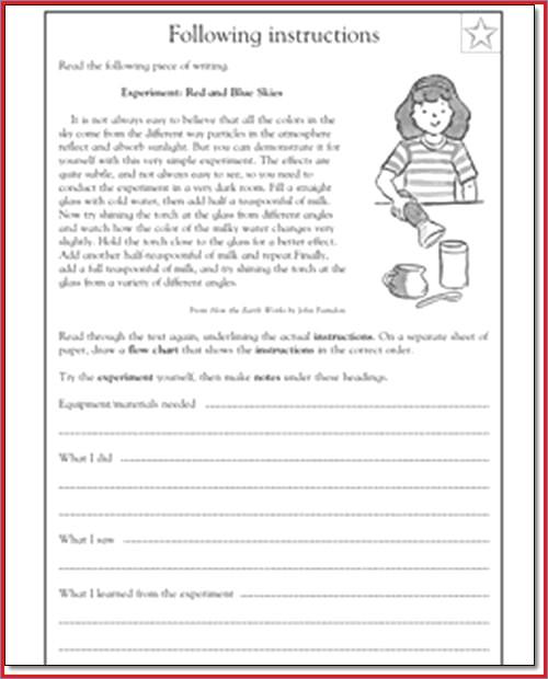7th Grade Language Arts Worksheets Language Arts Worksheets 4th