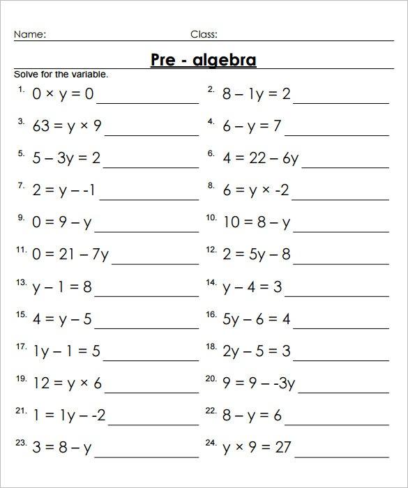 13+ 7th Grade Algebra Worksheet Templates – Free Word & Pdf