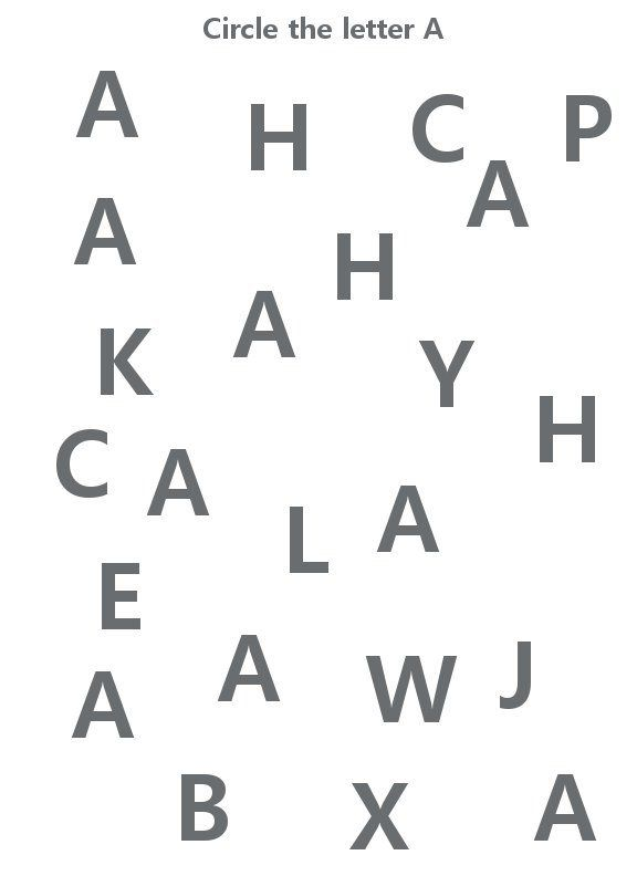 Circle Letter A