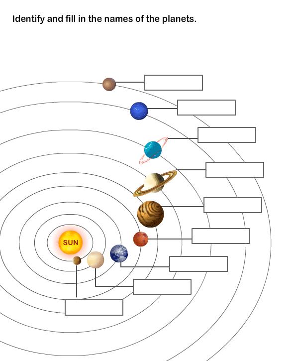 Week 9  Solar System Worksheet 8