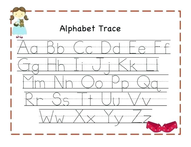 Abc Tracing Worksheets Practice Worksheets For Kindergarten 9 Best