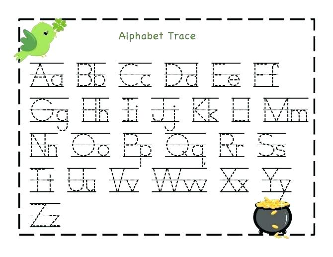 Alphabet Tracing Worksheets Az Free Printable Letter I Coloring