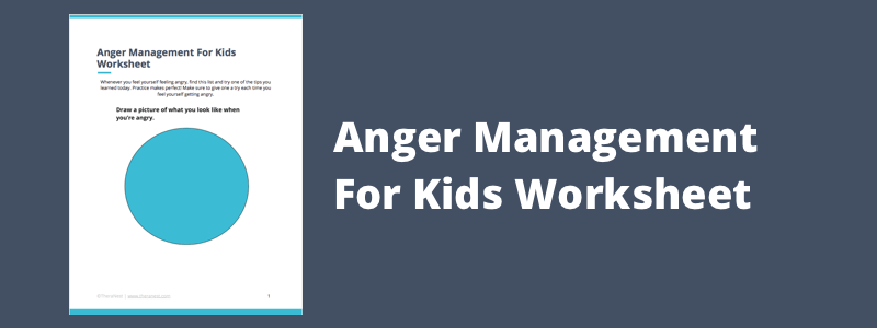 Free Anger Management Pdf Worksheet For Kids