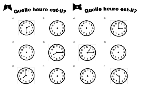Cool Telling The Time In French L Heure En Fran Ais By Anyholland