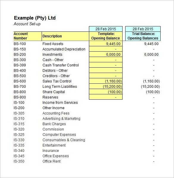 5+ Accounting Worksheet Templates – Free Excel Documents Download
