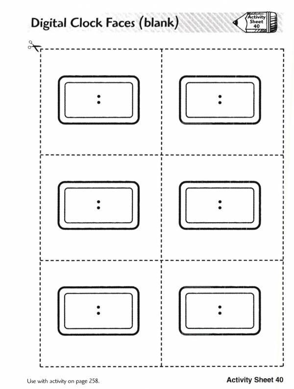 Digital Clock Faces (blank)