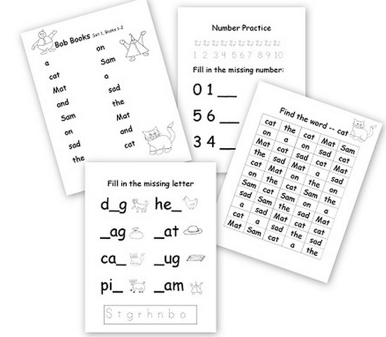 Beginning Reader Worksheets Archives