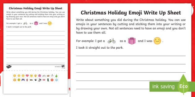 Christmas Recount Writing Frame