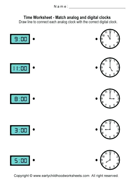 Clock Worksheets Kindergarten Free Download Them And Try To Solve