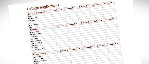 College Comparison Template For Excel