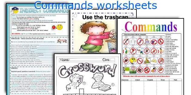 Commands Worksheets