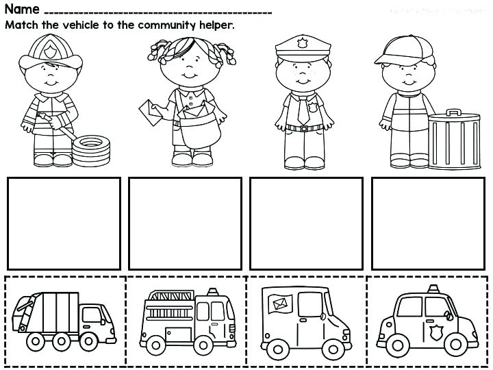 Community Helpers Worksheets Kindergarten Worksheets Social Stu S