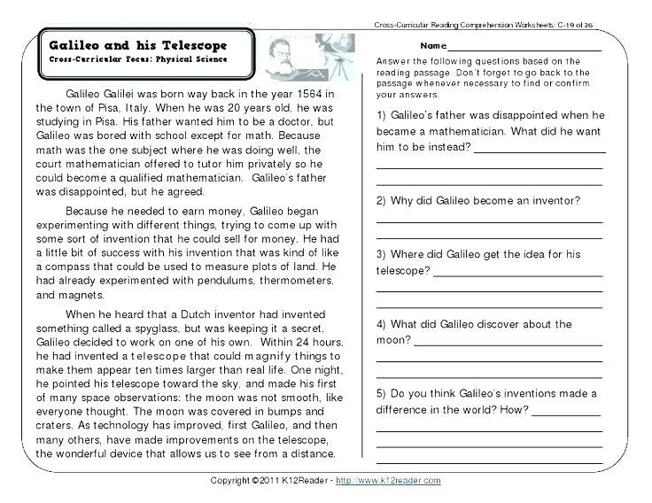 Comprehension Worksheets For Grade 5 Grade 1 Comprehension