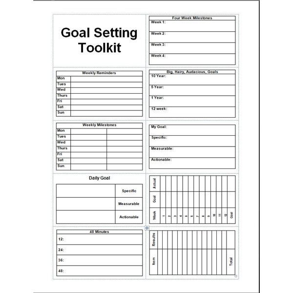 Daily Planner Template Printable Free Goal Setter