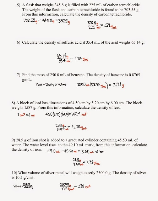 Density Calculations Worksheet 1 Answers Deployday, Density