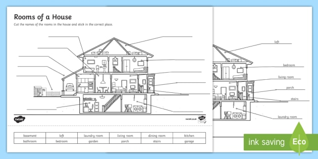Rooms Of A House Worksheet   Worksheet