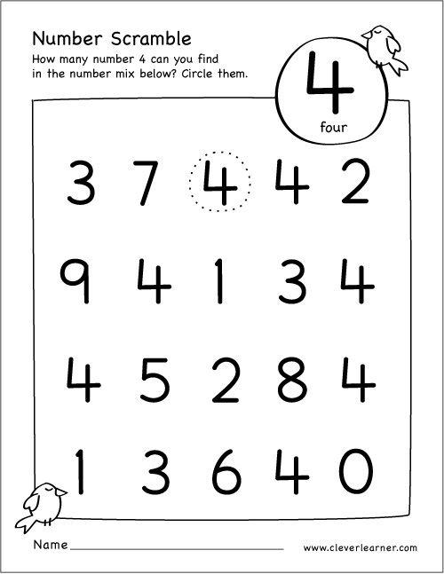 Free Number Scramble Activities For Preschool Kids  Numbers