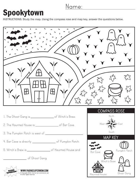 Spookytown Map Worksheet