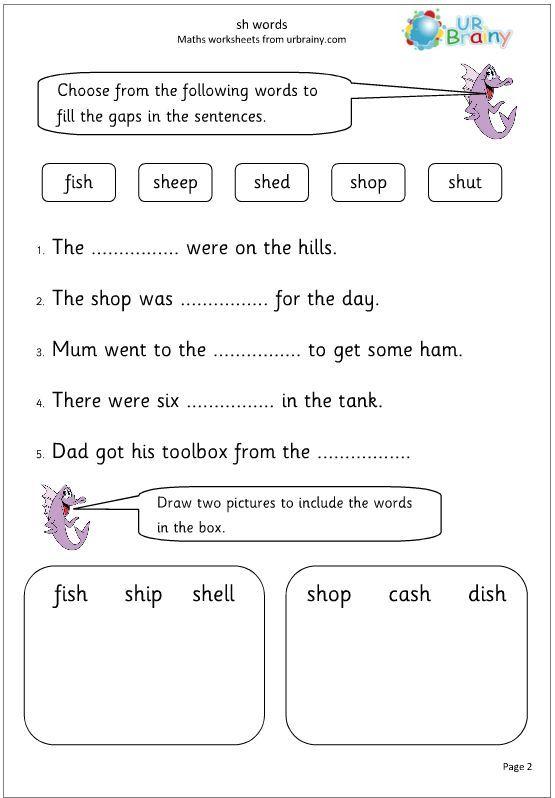 Grade 1 English Worksheets