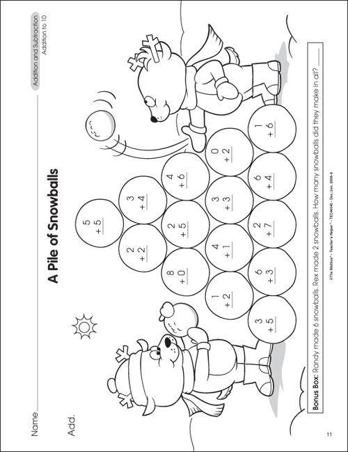 Free Math Worksheets For 1st Grade Addition – Worksheet Template