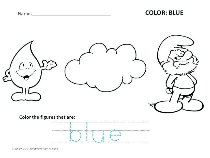 Color Blue Worksheets For Preschool Free