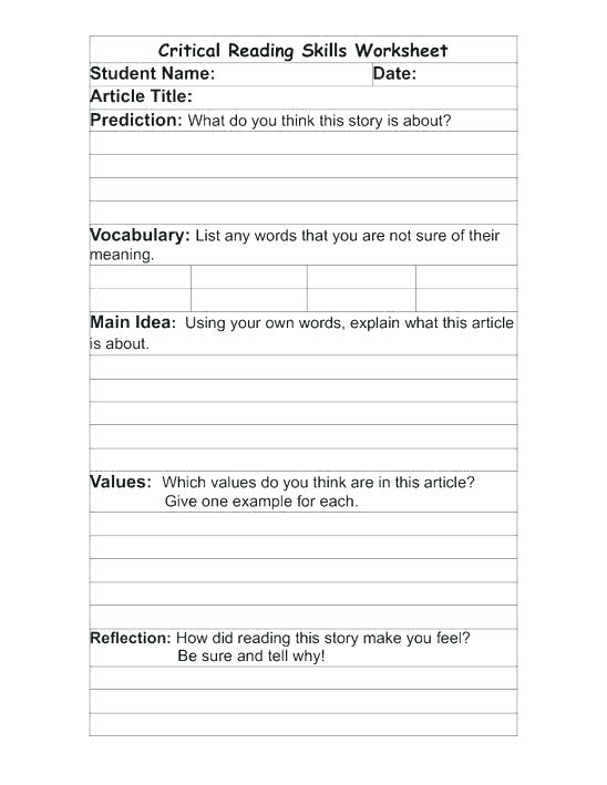 Free Printable Library Skills Worksheets Activities Elementary