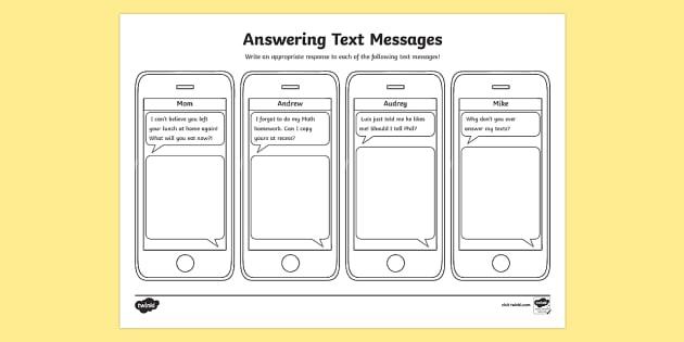 I Messages Worksheet