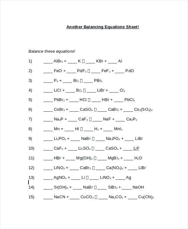 Balancing Nuclear Equations Worksheets Answer Key