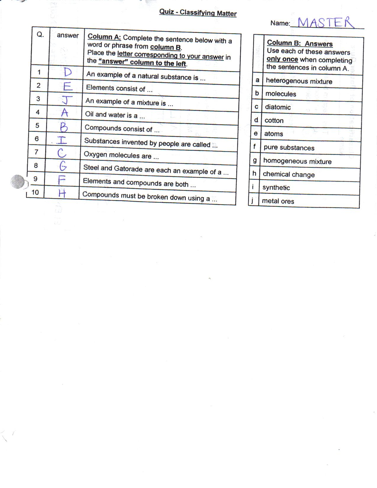 Bill Nye Static Electricity Video Worksheet Answer Key