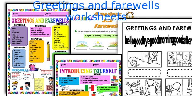 Greetings And Farewells Worksheets