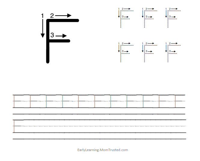 F Handwriting Worksheet Images