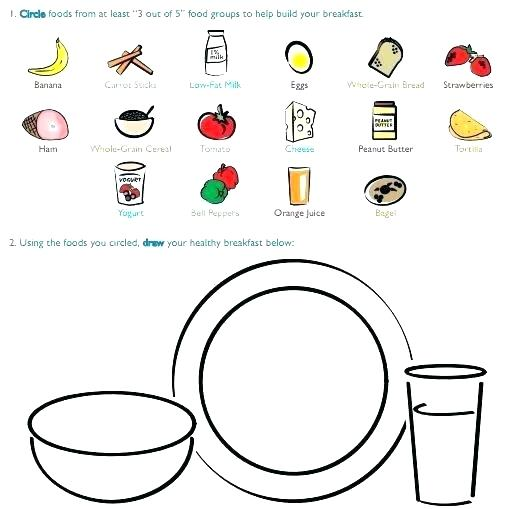 Healthy Eating Worksheets For Kids Free Health Food Kindergarten
