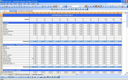 Home Finances Spreadsheet Akba Katadhin Co Budgeting Template