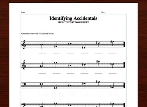 Sharps, Flats, & Naturals  3 Free Printable Worksheets – Lacie