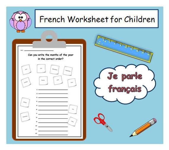 French Teacher Printable Months Of The Year Lesson Plans