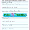 Interrogative Pronouns Worksheets Printable