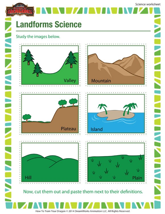 Landforms Science – Online 3rd Grade Science Worksheet – Sod
