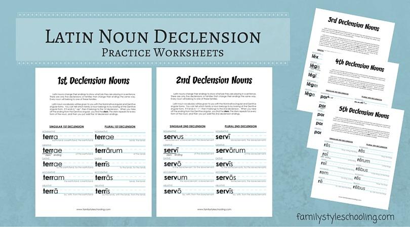 Latin Nouns Declension Free Printable