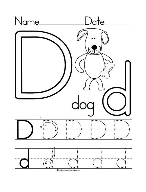 Letter A Tracing Worksheets Preschool Preschool Letter E