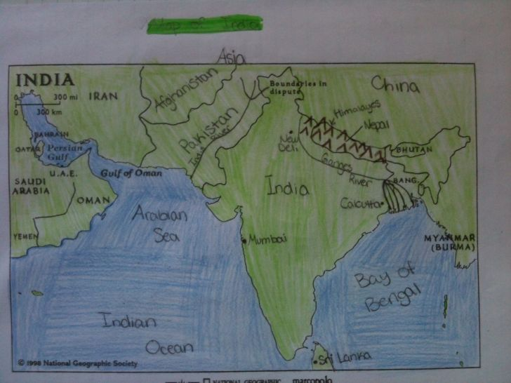 Ancient India Map Worksheet