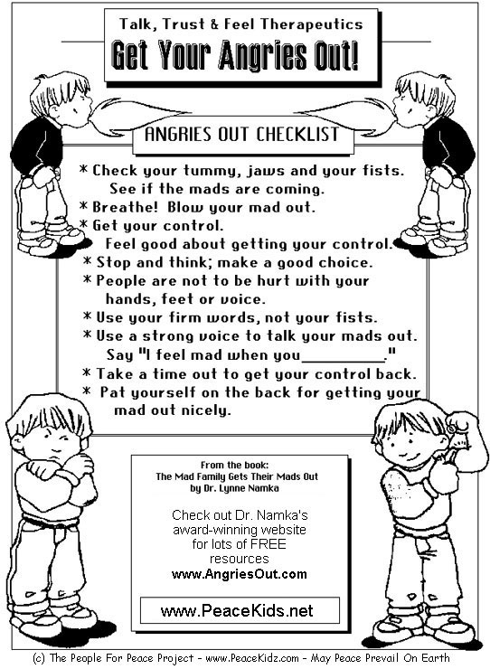 Managing Anger Teenagers Worksheets For Children,kids