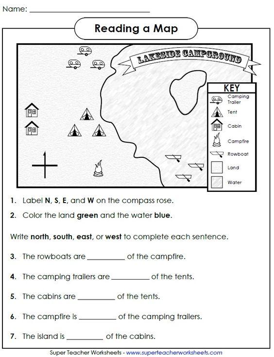 Map Skills Worksheet Middle School Blank Pass Rose Worksheet Image