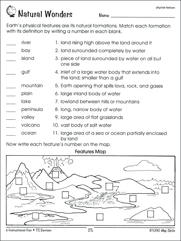 First Grade Map Skills Worksheets Library Worksheets Map Skills