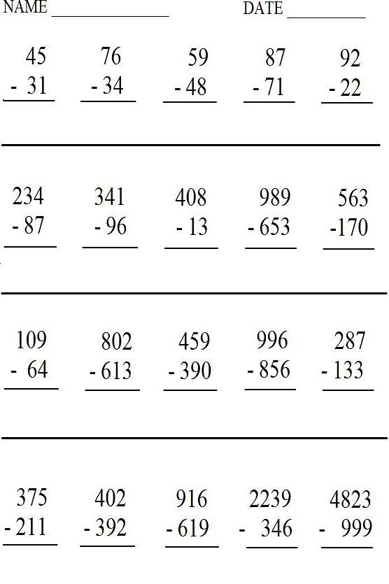 Math Worksheets Printable Quizzes And Other Study Aids