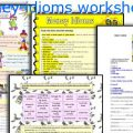 Money Idioms Worksheets