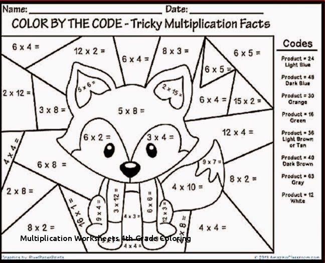Multiplication Worksheets 4th Grade Coloring Math Fun Worksheets