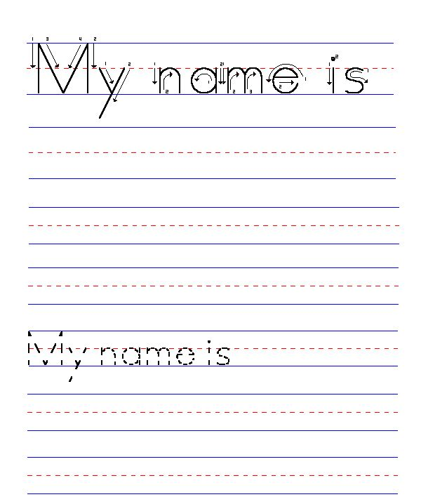 Name Handwriting Worksheets Free Worksheets Library Download And
