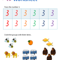 Number 3 Printable Worksheets